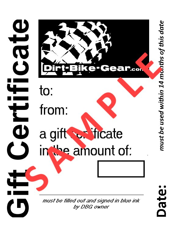 pic of sample gift certificate